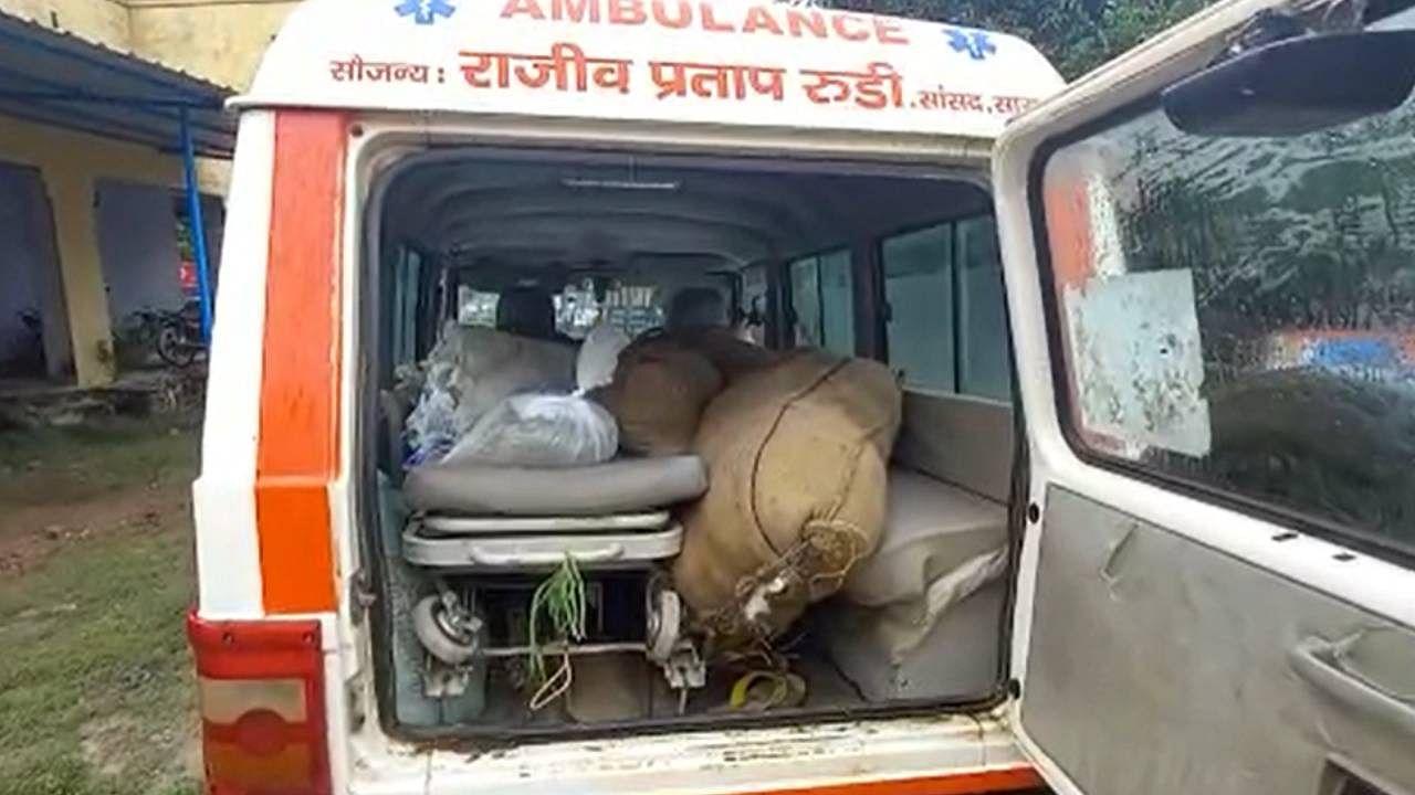 Bihar: राजीव प्रताप रूडी की सांसद निधि की एंबुलेंस फिर सुर्खियों में, मरीजों की जगह ढोई जा रही थी शराब की खेप