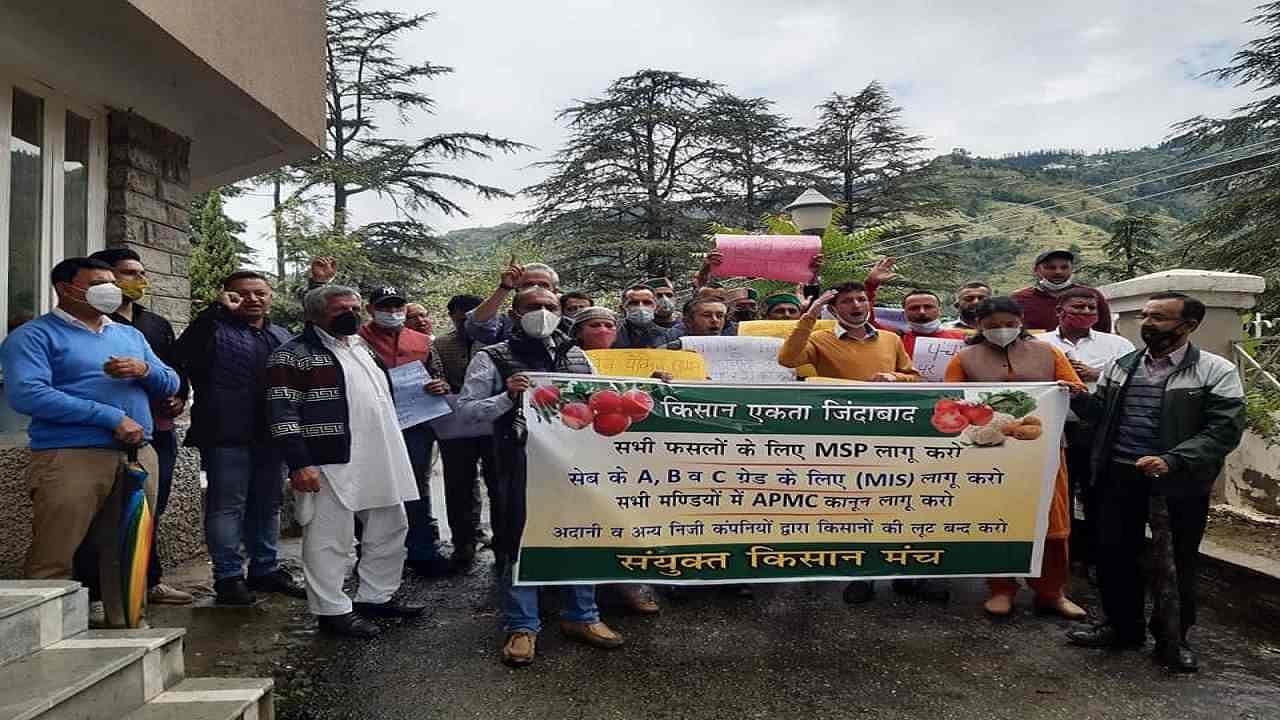 हिमाचल प्रदेश: सेब की सही कीमत न मिलने से नाराज किसानों ने किया विरोध प्रदर्शन, ये हैं 13 सूत्रीय मांगें