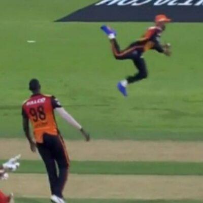IPL 2021: सनराइजर्स हैदराबाद हारा मैच पर फील्डर्स ने जीता दिल, देखिए सीजन के दो सबसे बेहतरीन कैच
