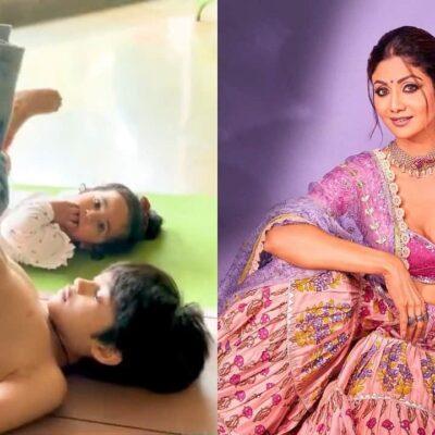 शिल्पा शेट्टी की तरह उनके दोनों बच्चे भी हैं योगा में एक्सपर्ट, एक्ट्रेस ने शेयर किया वीडियो
