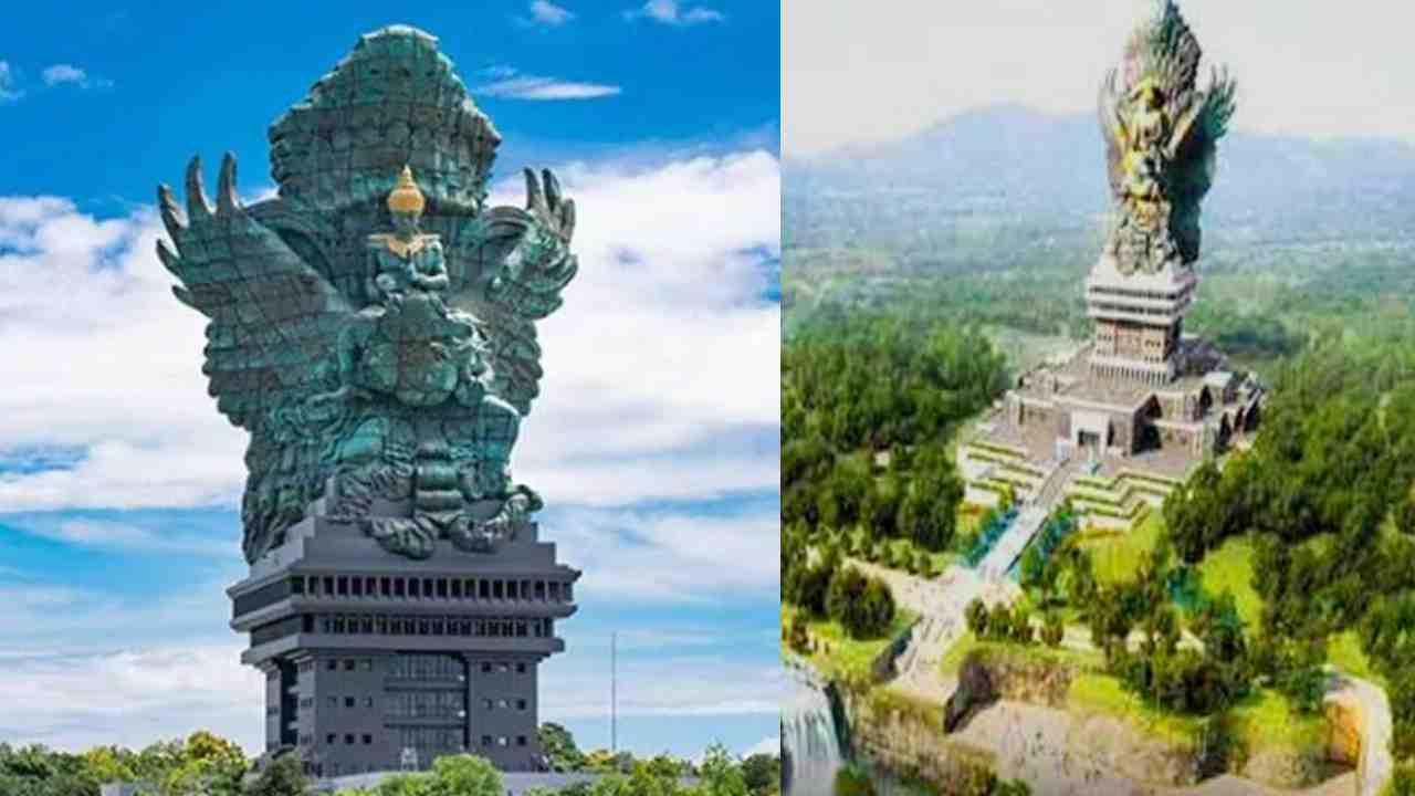 बाली द्वीप के उंगासन में स्थित इस मूर्ति निर्माण के पीछे एक स्वप्न है. बताया जाता है कि वर्ष 1979 में इंडोनेशिया में रहने वाले मूर्तिकार बप्पा न्यूमन नुआर्ता ने एक बेहद विशाल मूर्ति बनाने का सपना देखा था. एक ऐसी मूर्ति, जो आज तक बनाई ही न गई हो और जिसे पूरी दुनिया देखती रह जाए. लंबे समय तक प्लान करने और शुरुआती पैसों का इंतजाम करने के बाद वर्ष 1994 में काम शुरू हुआ.
