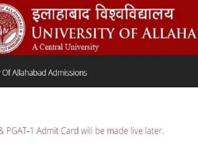 AU UGAT Exam 2021: इलाहाबाद यूनिवर्सिटी यूजी प्रवेश परीक्षा का एडमिट कार्ड जारी, ऐसे करें डाउनलोड