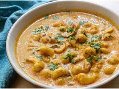 Cashew Curry Recipe : इस आसान तरीके से घर पर बनाएं स्वादिष्ट काजू करी