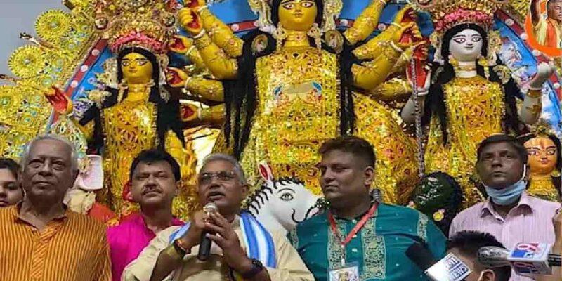 Durga Puja 2021: बंगाल BJP ने की दुर्गा पूजा, शुभेंदु और सुकांत ने ममता सरकार पर बोला हमला, कहा-'सनातन धर्म का किया जा रहा है अपमान'