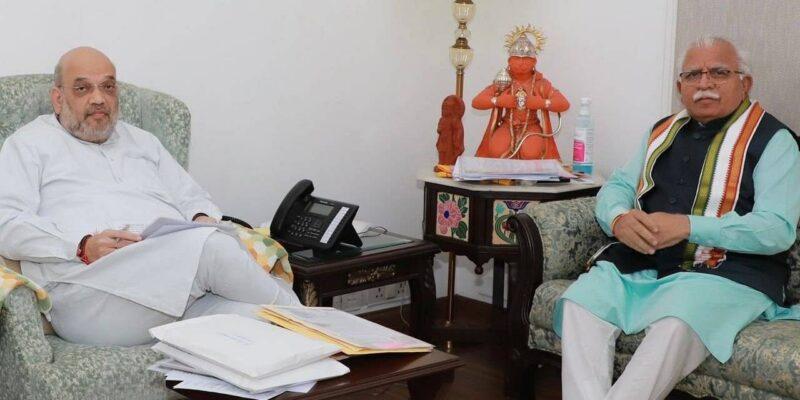 हरियाणा के मुख्यमंत्री मनोहर लाल खट्टर ने गृह मंत्री अमित शाह से की मुलाकात, नेशनल हाइवे खुलवाने की उठाई मांग