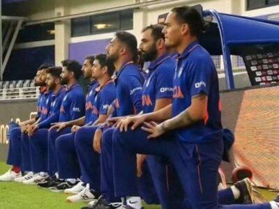 IND vs PAK: मैच से पहले पाकिस्तान के सामने घुटने पर बैठे भारत के खिलाड़ी, जानिए क्यों किया यह काम