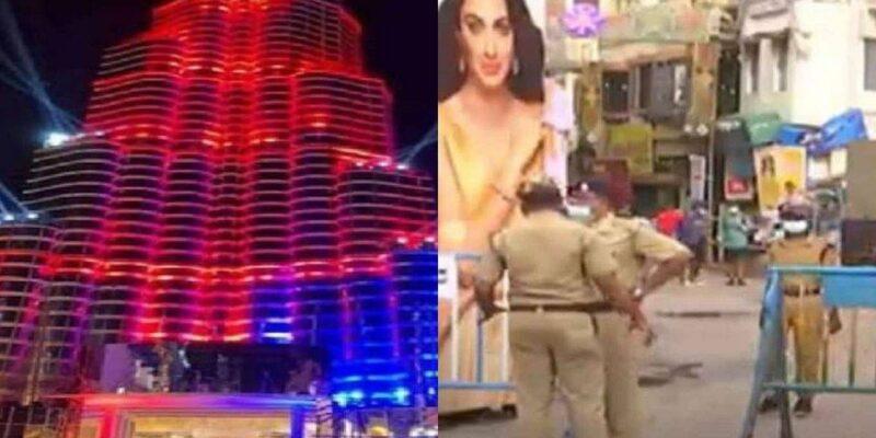 Kolkata Durga Puja 2021: 'बुर्ज खलीफा' के तर्ज पर बने दुर्गा पूजा पंडाल में अब दर्शकों के प्रवेश पर लगी 'नो एंट्री'