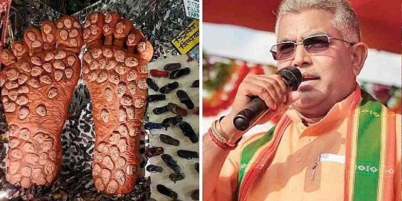 Kolkata Durga Puja Controversy: पूजा पंडाल में जूते-चप्पल की सजावट पर बोले दिलीप घोष-'दुर्गा पूजा नहीं है कोई राजनीति का अखाड़ा'