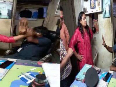 महाराष्ट्र: राज ठाकरे का फोटो नहीं पहचानने की सजा, मराठी अभिनेत्री ने एक वॉचमैन को जम कर पीटा- Video