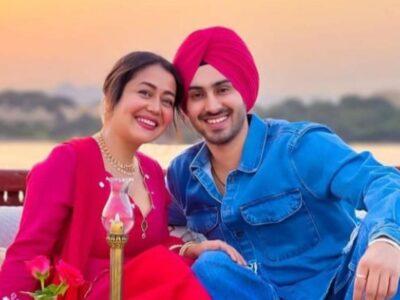 Neha Kakkar and Rohanpreet celebrate their first wedding anniversary in the heart of Lake Pichola, share romantic photos