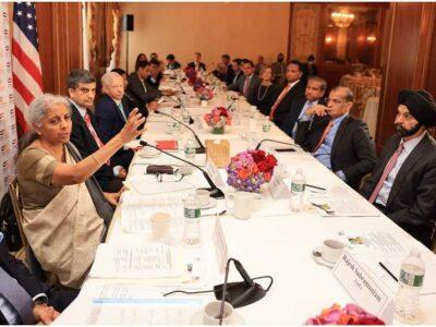 निर्मला सीतारमण ने की वर्ल्ड के टॉप CEO के साथ मुलाकात, कहा- 'भारत ने उठाया डिजिटलीकरण का पूरा लाभ'