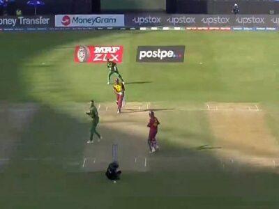 T20 World Cup 2021: एक गेंद पर 2 बार 'मौत' को मात, वेस्टइंडीज-साउथ अफ्रीका मैच में टला बड़ा हादसा!