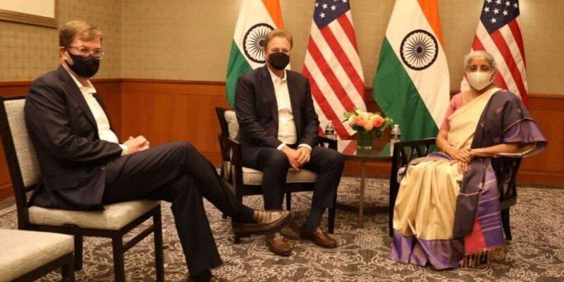 वित्त मंत्री सीतारमण से मिले अमेरिकी कंपनी बेन कैपिटल के अधिकारी, बैठक को बताया 'शानदार', भारत में और निवेश करने की उम्मीद